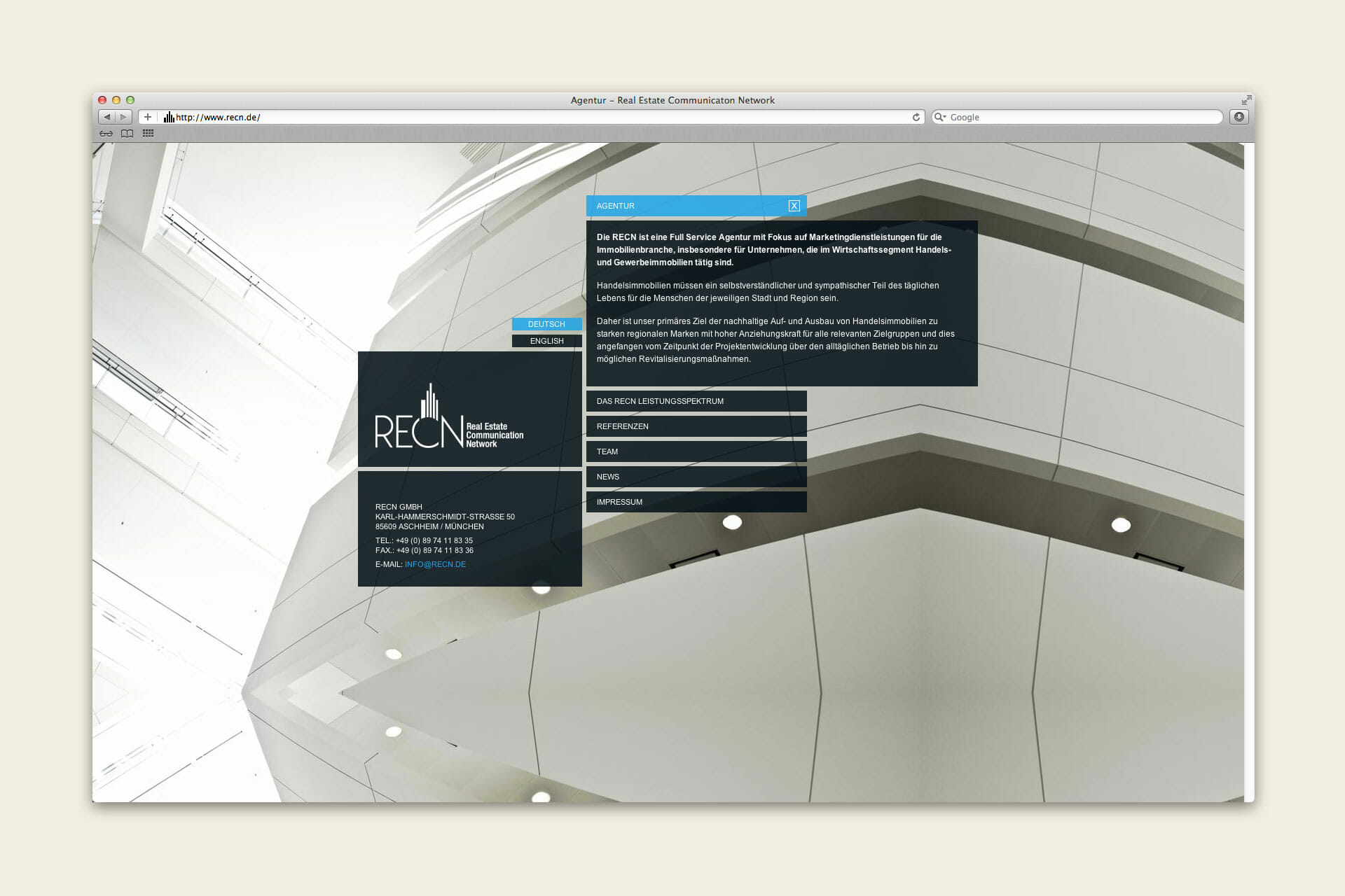 RECN Website Agentur
