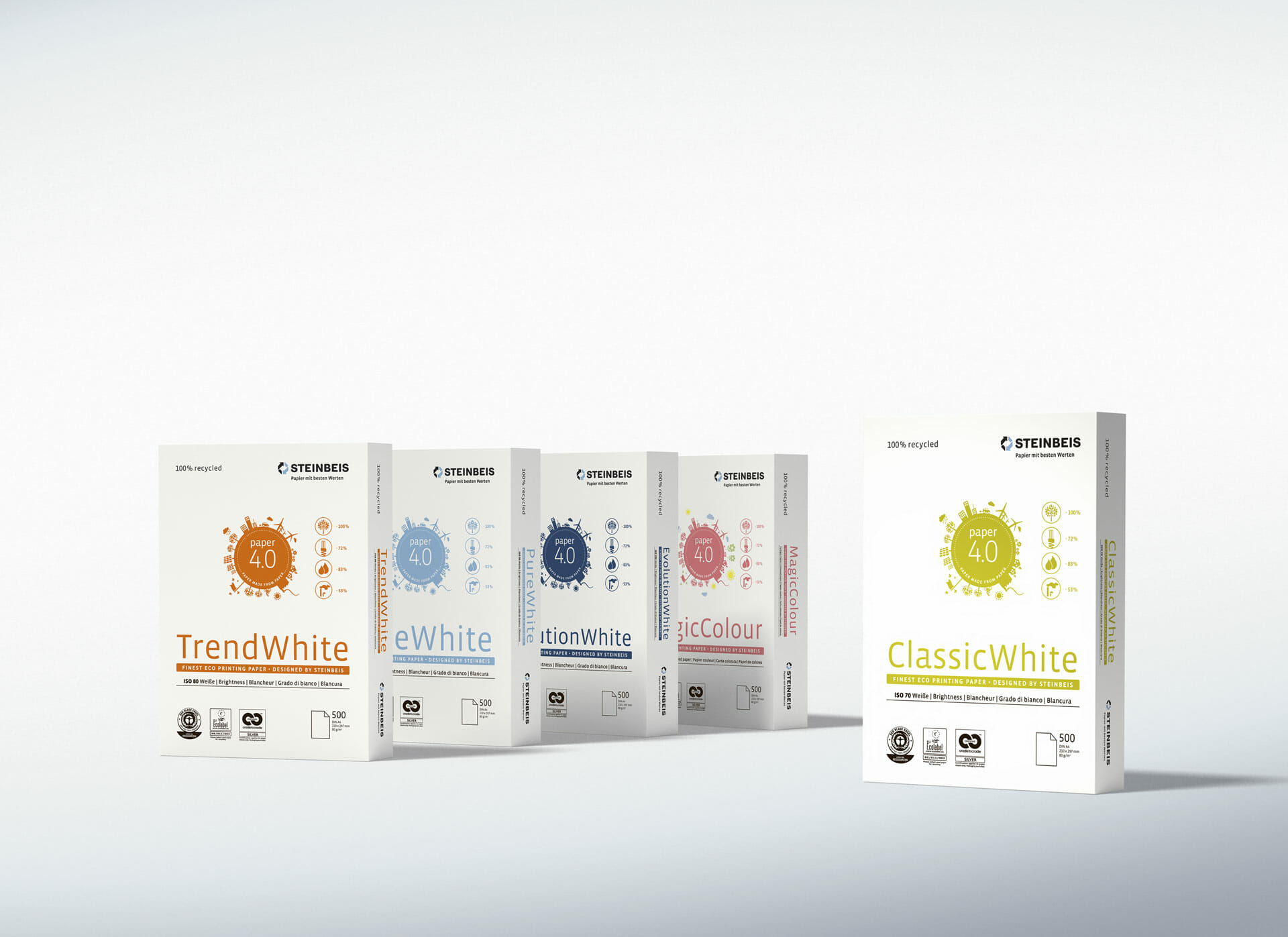Steinbeis Papier Packaging Redesign 2015 Gruppe