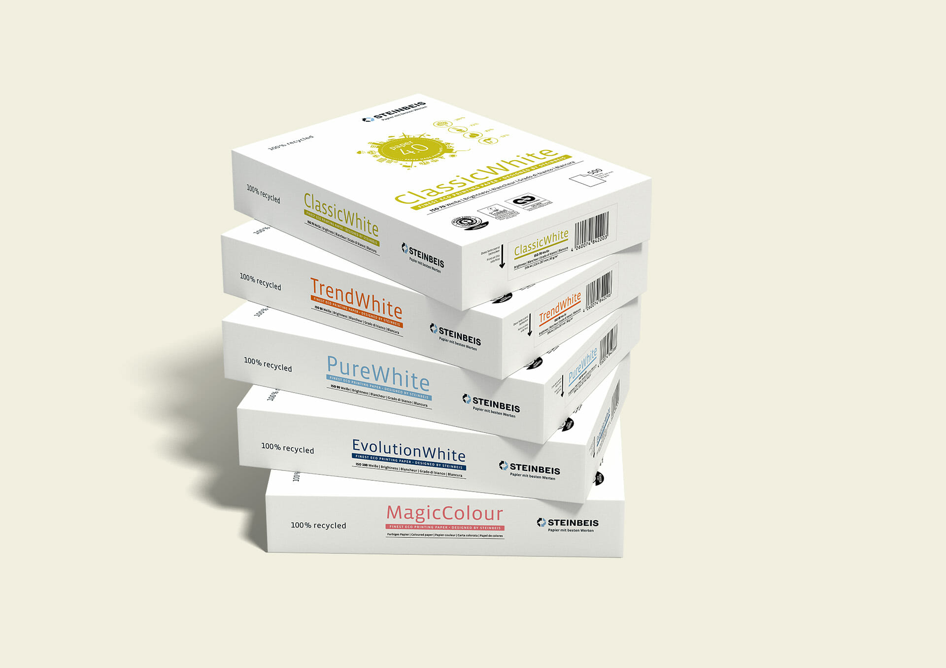 Steinbeis Papier Packaging Redesign 2015 Stapel