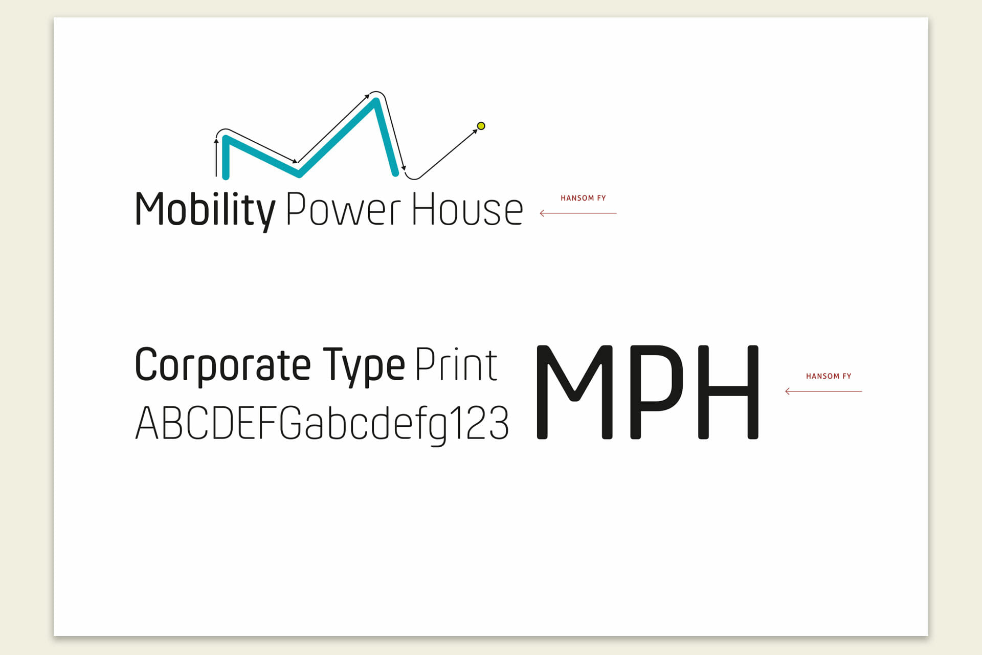 Mobility Power House Corporate Typography