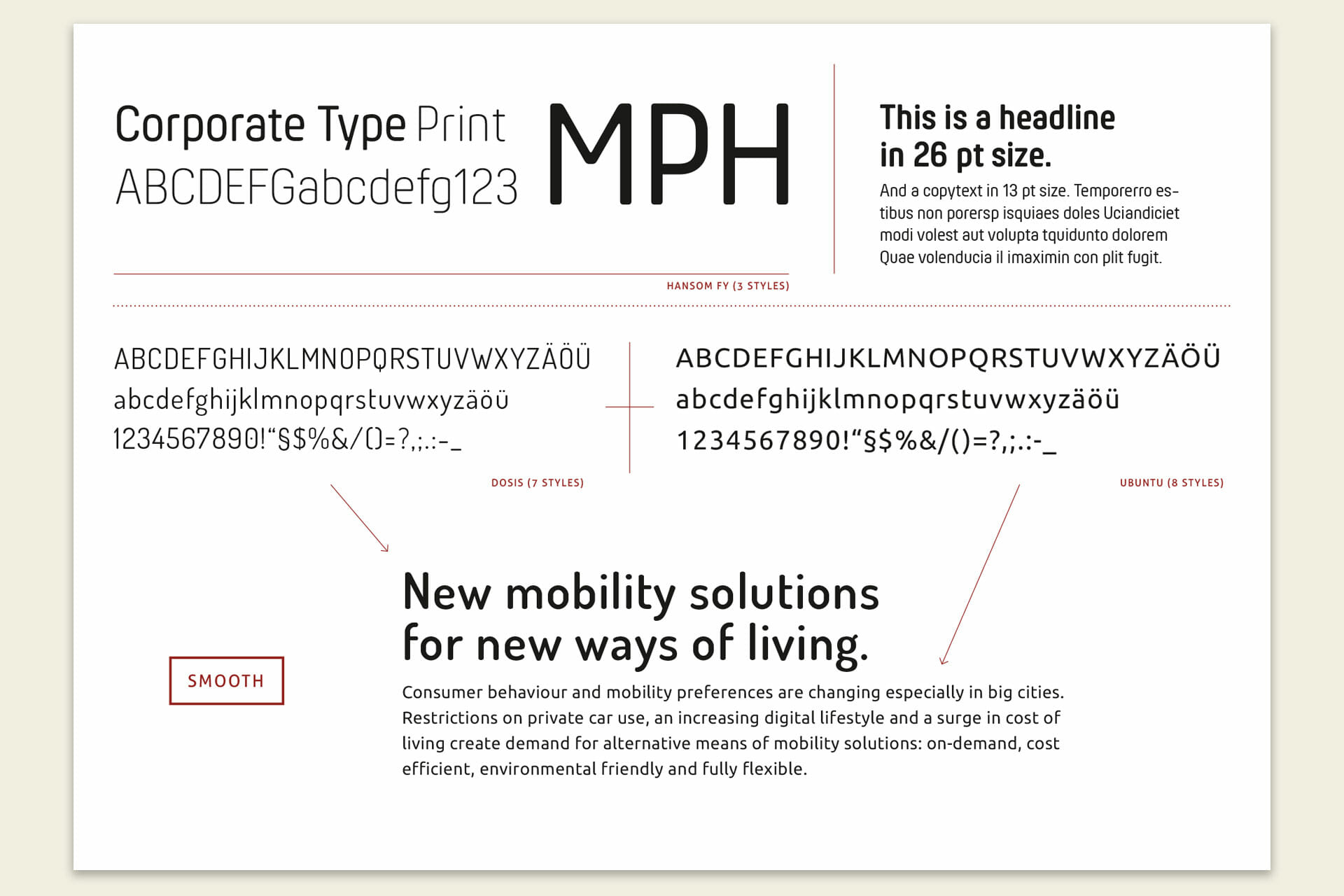 Mobility Power House Corporate Typography Web