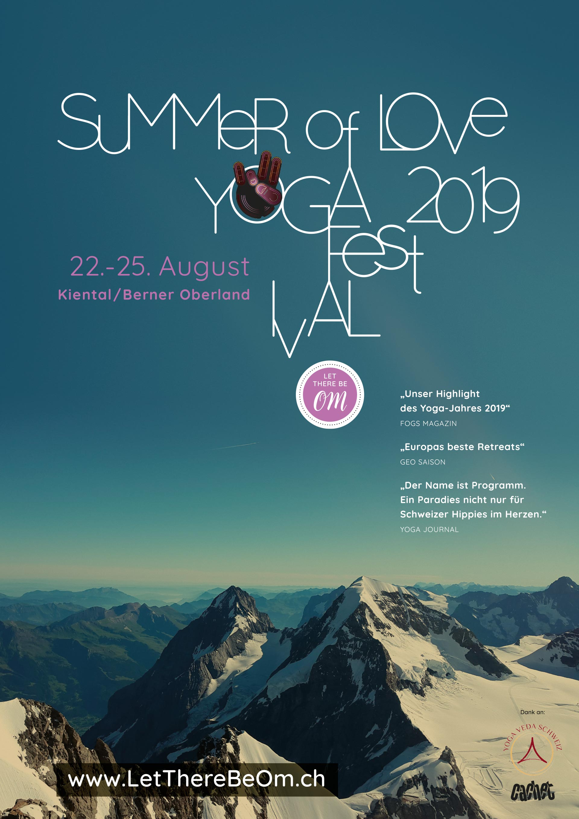 Summer of Love Yogafestival Poster